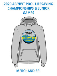 Merchandise for the 2020 AB/NWT Pool Lifesaving Championships and Junior Games!