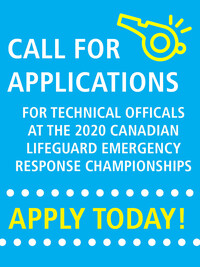 Call for Applications: Officials for the 2020 Canadian Lifeguard Emergency Response Championships